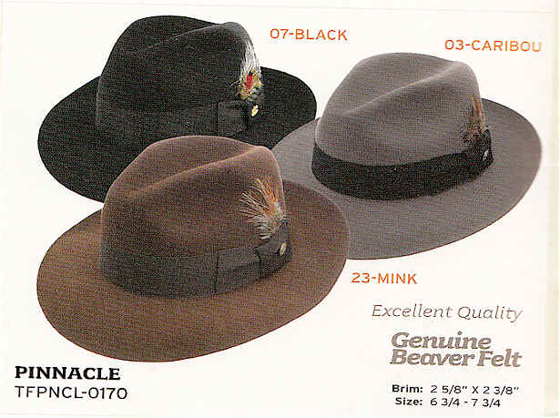 Pinnacle by Stetson hats