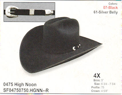 5 inch brim - High Noon by Stetson hats c4c3fba7c12