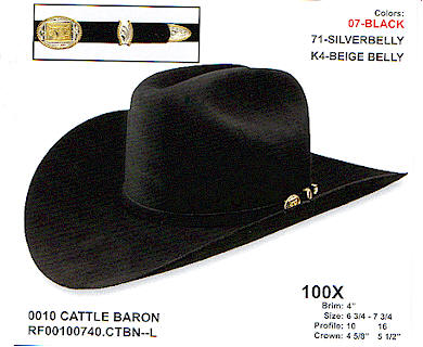 Cattle Baron by Resistol hats