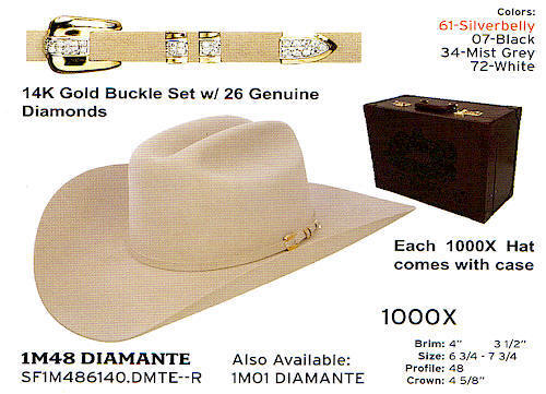 Stetson hats finest hat - Diamante