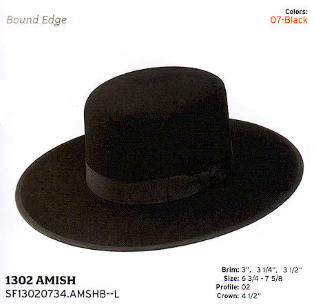 Amish by Stetson hats