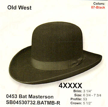 Bat Masterson by Stetson hats