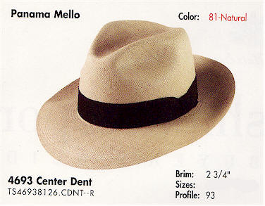 Center Dent Panama Hat - Monte Cristo style 60a64be76d7