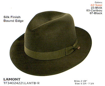 Lamont by Stetson hats