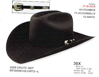 Chute Out Resistol Long Oval hat d27a81358f6