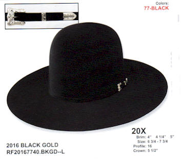 Black Gold Open Crown by Resistol hats dd4ac96ae36