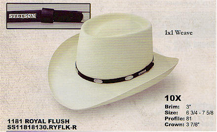 Royal Flush straw hat